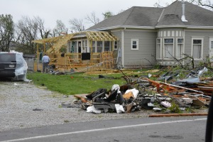 Many homes in Beaver Crossing sustained damage during Sunday night's storm.